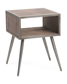 Modern End Table With Open Drawer
