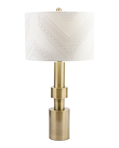28in Soft Brass Column Table Lamp