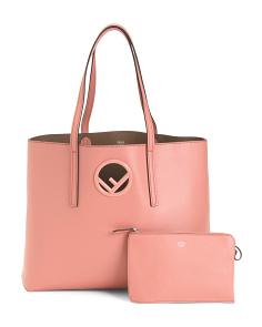 Made In Italy Leather Logo Shopper