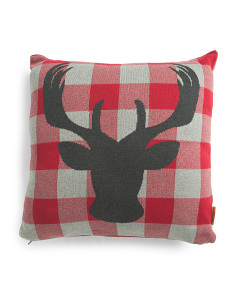 Made In India 20x20 Buffalo Check  Pillow