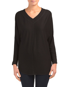 Made In Usa Asymmetrical V-neck Top