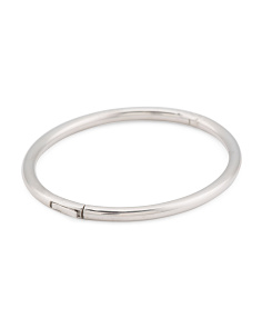Made In Italy Sterling Silver Polished Tube Bracelet