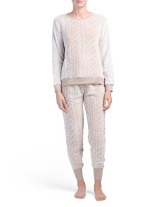 Cable Sherpa Pajama Set