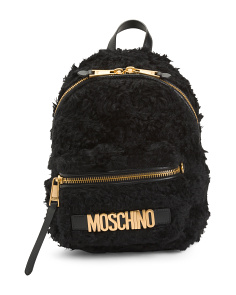 Made In Italy Mohair Backpack