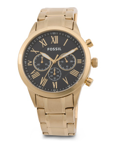 Men's Flynn Modern Gold Tone Chrono Bracelet Watch