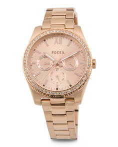 Women's Scarlette Rose Gold Tone Bracelet Watch