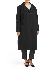 Plus Long Wool Blend Coat