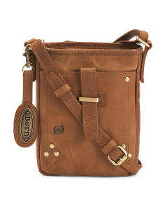 Leather Distressed Crossbody
