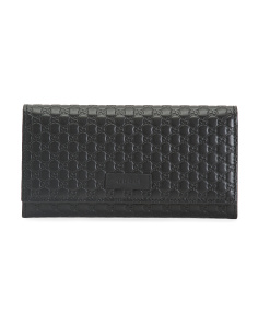 Made In Italy Long Leather Wallet