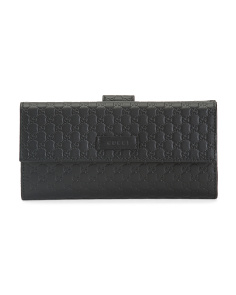Made In Italy Micro Logo Leather Wallet