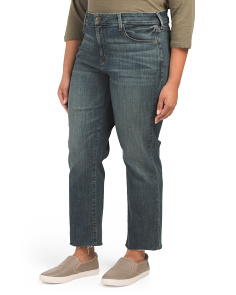 Plus Marilyn Raw Hem Crop Jeans