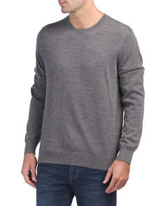 Wool & Cashmere Long Sleeve Crew Neck Sweater