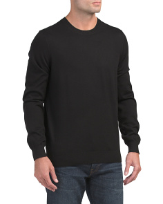 Wool Cashmere Long Sleeve Crew