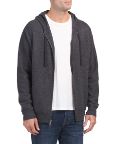 Cashmere Oversized Zip Up Hoodie