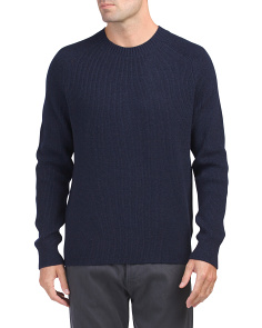 Wool And Cashmere Ribbed Sweater