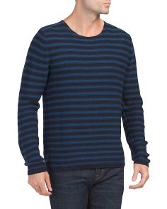 Reverse Stripe Crew Neck Sweater