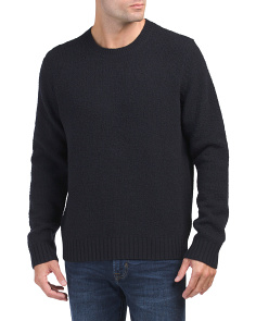 Textured Wool Blend Sweater
