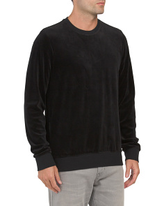 Side Zip Long Sleeve Crew Neck Top