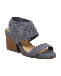 Comfort Perforated Wedge Sandals