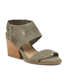 Comfort Perforated Wedged Sandals