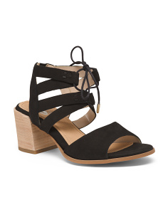 Tie Up Comfort Suede Sandals