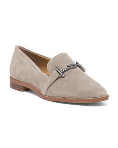 Suede Loafers With Keeper