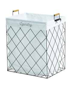 Large Metal Diamond Hamper