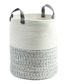 Small Two Tone Rope Storage Basket