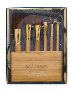 Australian Designed 7pc Eco Brush Set With Stand