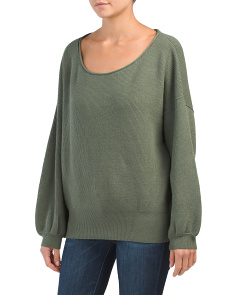 Shadow Crew Neck Slouchy Pullover Sweater