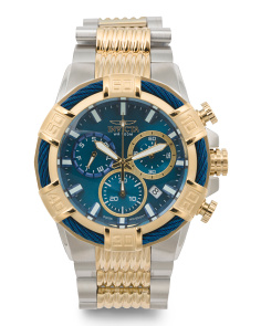 Men's Bolt Chronograph Two Tone Bracelet Watch