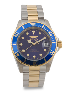 Men's Pro Diver Two Tone Bracelet Watch