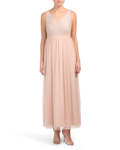 Petite V-neck Gown
