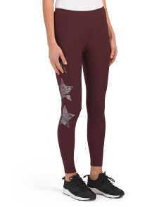 Chrome Star Printed Leggings
