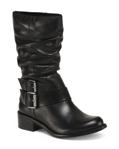 Made In Brazil Mid Calf Leather Booties