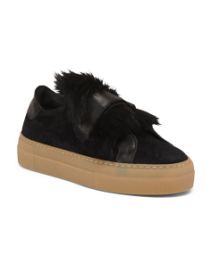Made In Italy Shearling Leather Shoes