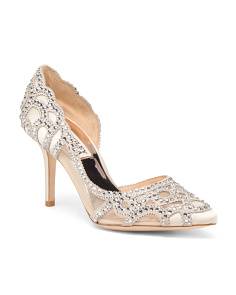 Embellished D'orsay Evening Pumps