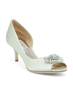 Peep Toe Kitten Heel Evening Shoes
