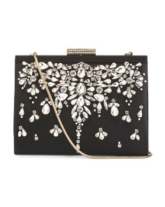 Satin Jewel Embellished Bag