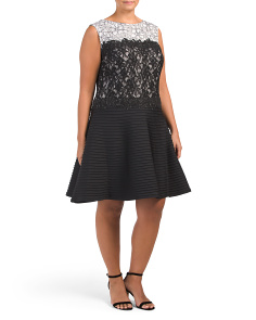 Plus Lace Cocktail Dress