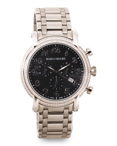 Women's Swiss Made Diamond Chronograph 44mm Bracelet Watch