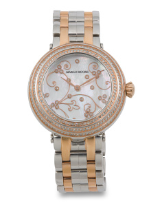 Women's Swiss Made Diamond 36mm Bracelet Watch