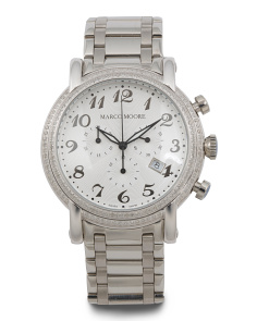 Women's Swiss Made Diamond Chrono 44mm Bracelet Watch
