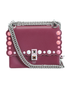 Made In Italy Convertible Crossbody Leather Clutch