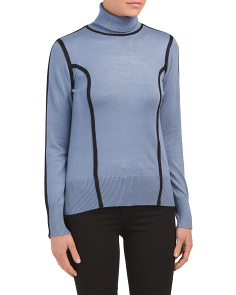 Turtleneck Pullover With Contrast