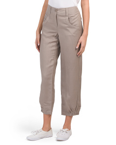 Linen Pants With Cuffed Bottom