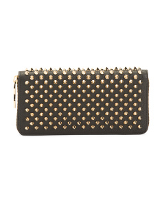 Made In Italy Leather Studded Wallet
