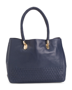 Benson Novelty Leather Tote