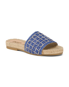 Made In Spain Suede Flat Espadrilles