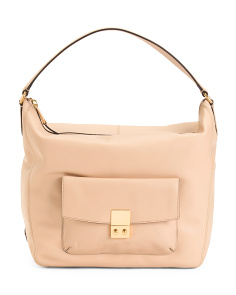 Allanna Leather Bucket Bag